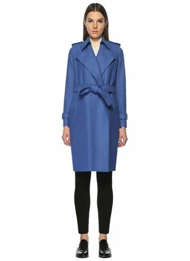 Harris Wharf London %100 Yün Palto Mavi